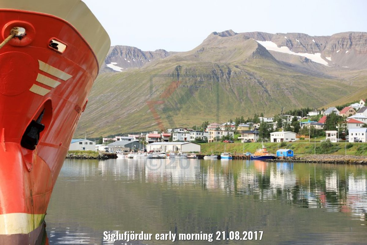 Siglufjördur early morning 21.08.2017