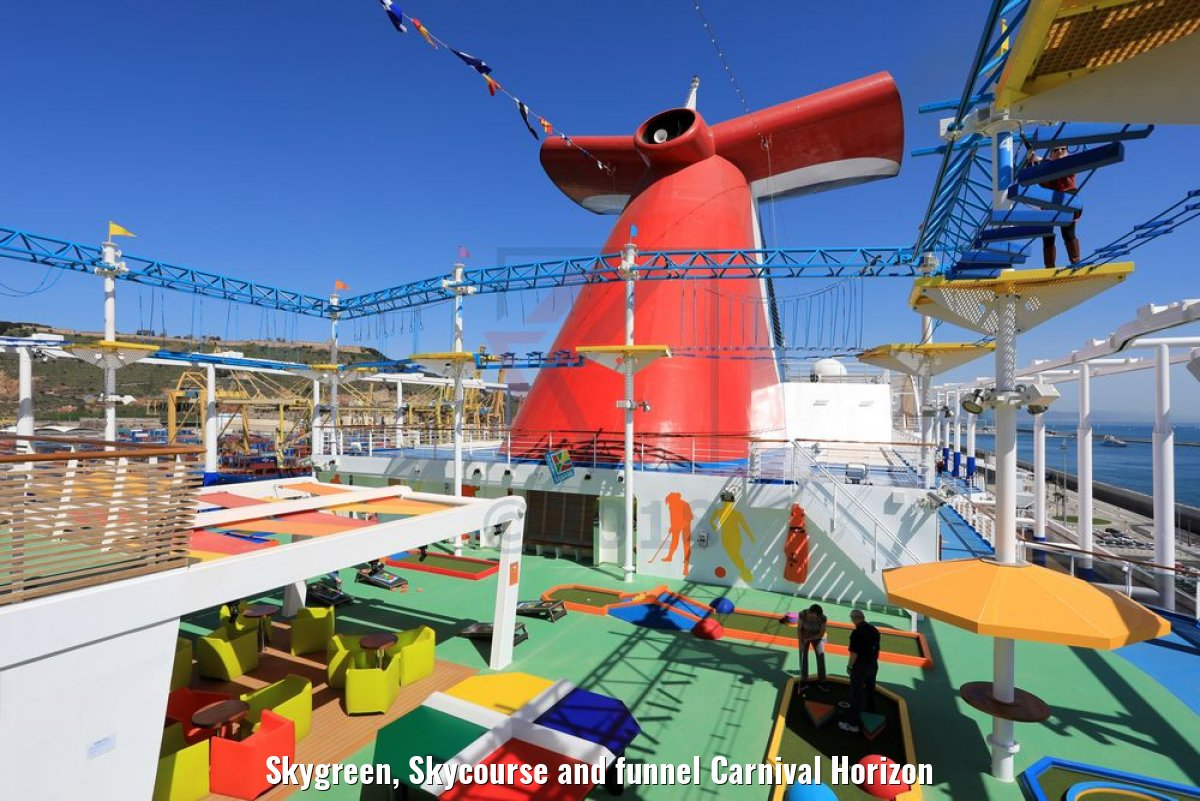 Skygreen, Skycourse and funnel Carnival Horizon