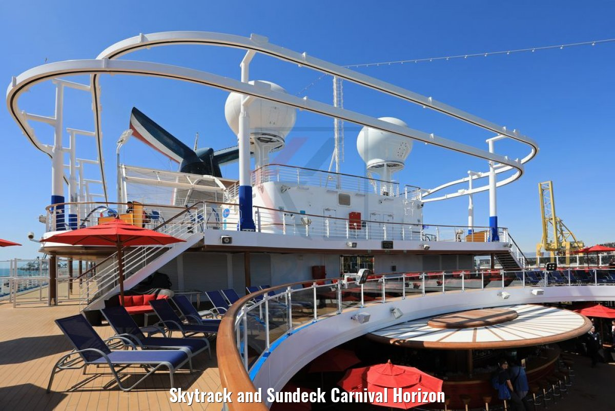 Skytrack and Sundeck Carnival Horizon
