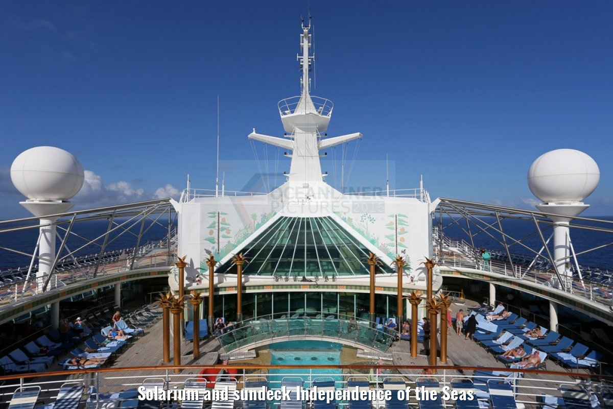 Solarium and sundeck Independence of the Seas