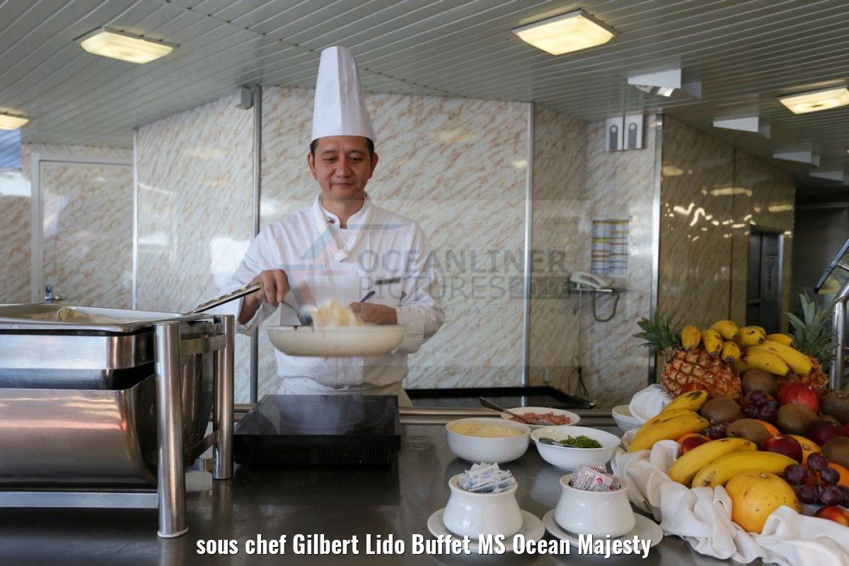 sous chef Gilbert Lido Buffet MS Ocean Majesty