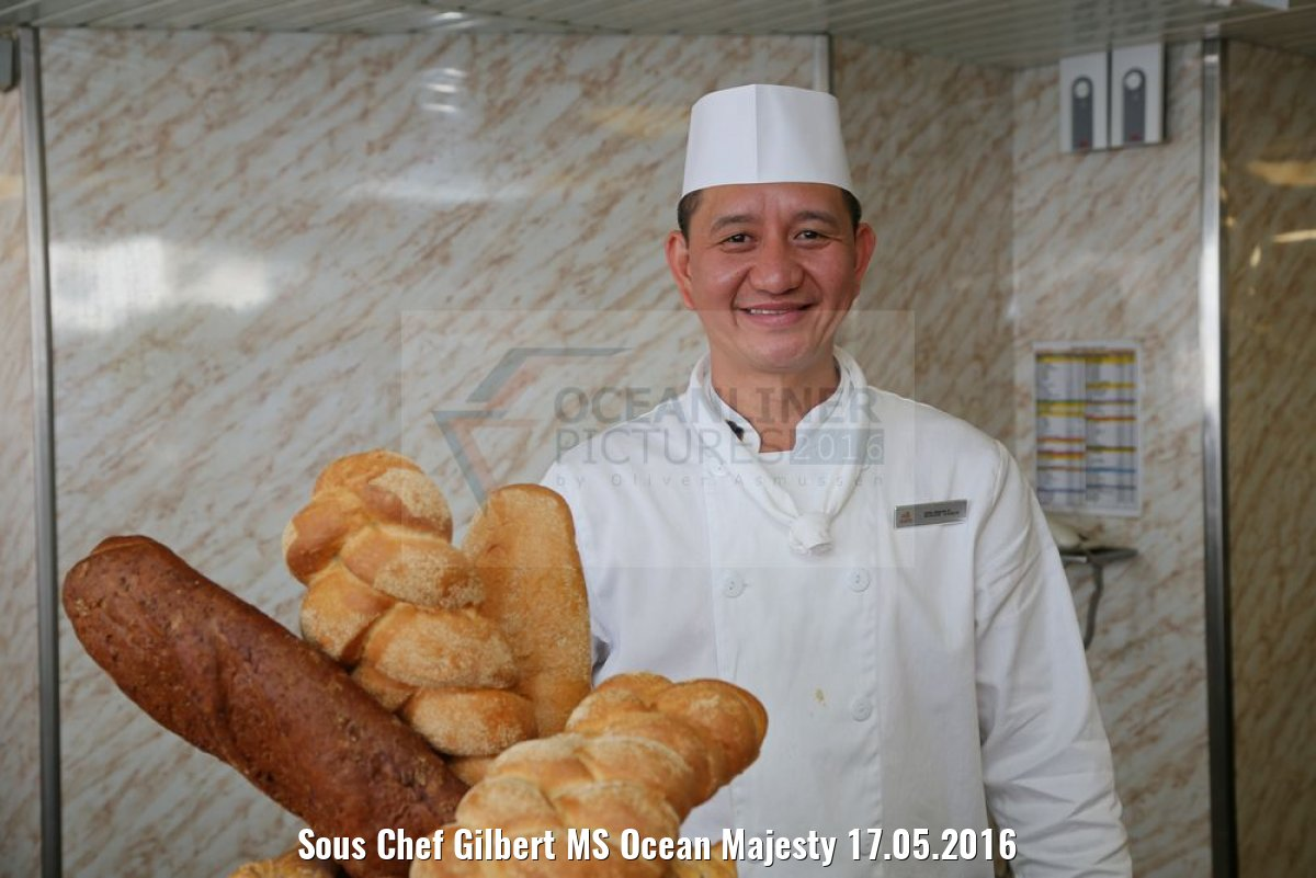 Sous Chef Gilbert MS Ocean Majesty 17.05.2016