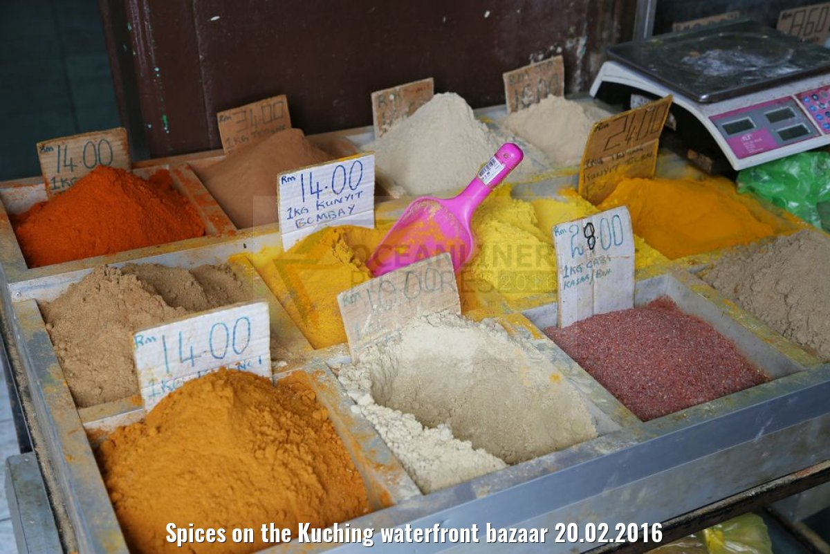 Spices on the Kuching waterfront bazaar 20.02.2016