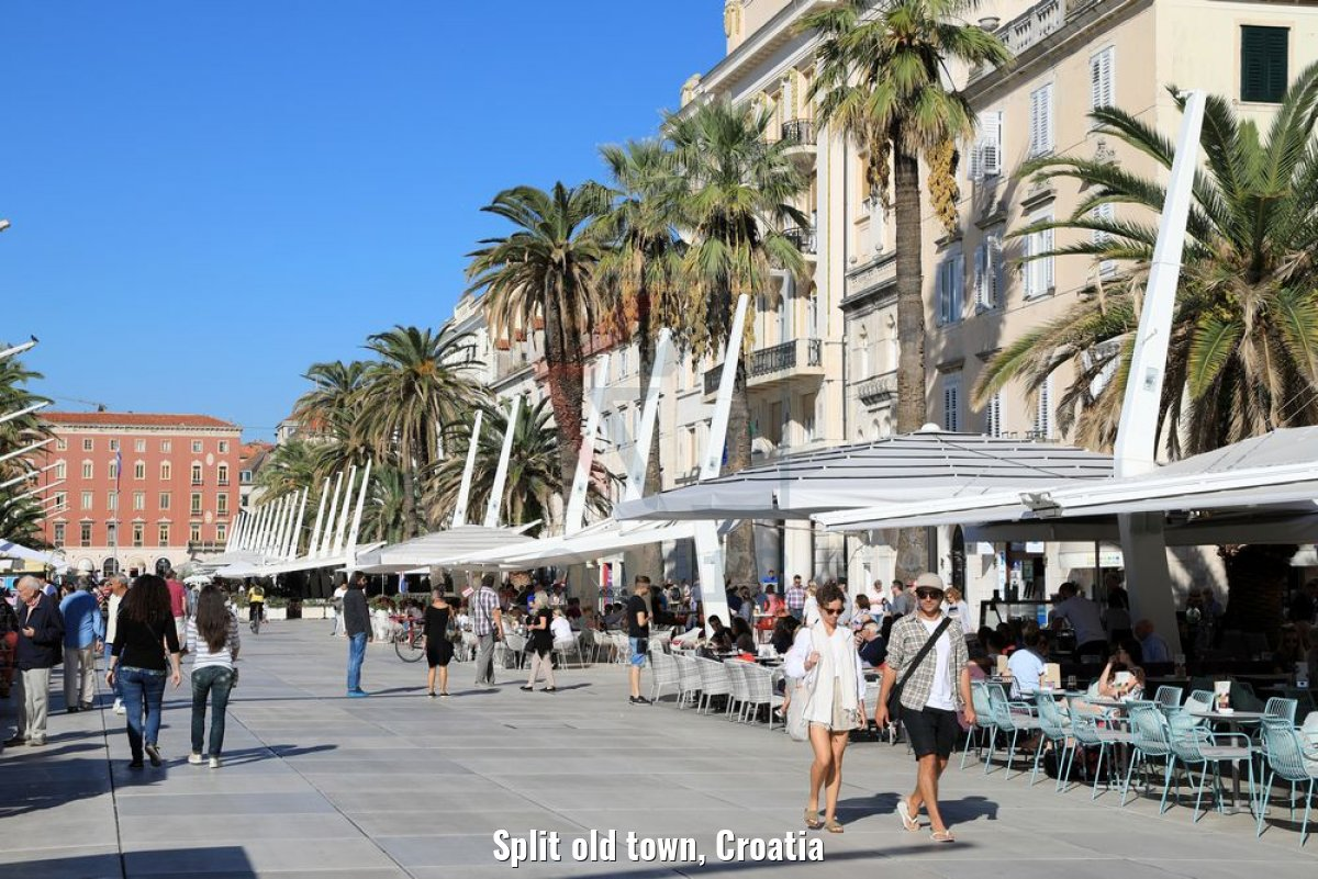 Split old town, Croatia