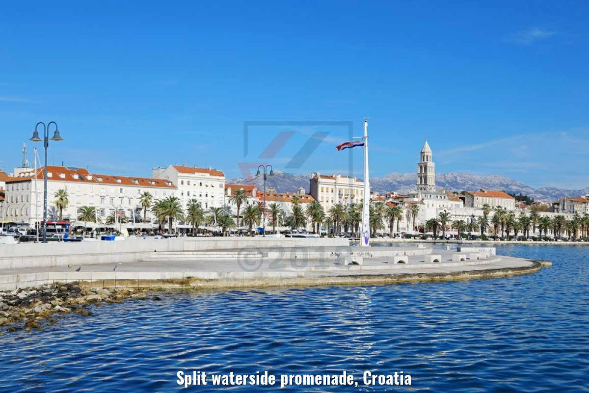 Split waterside promenade, Croatia