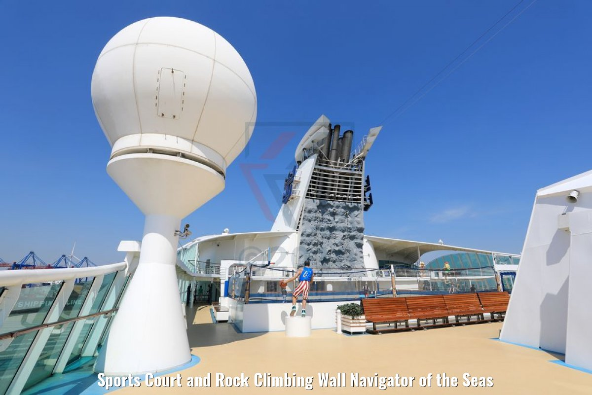Sports Court and Rock Climbing Wall Navigator of the Seas