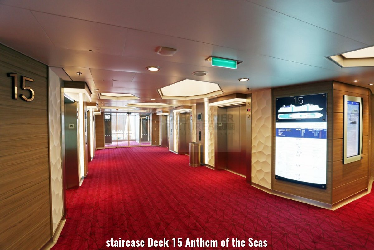 staircase Deck 15 Anthem of the Seas
