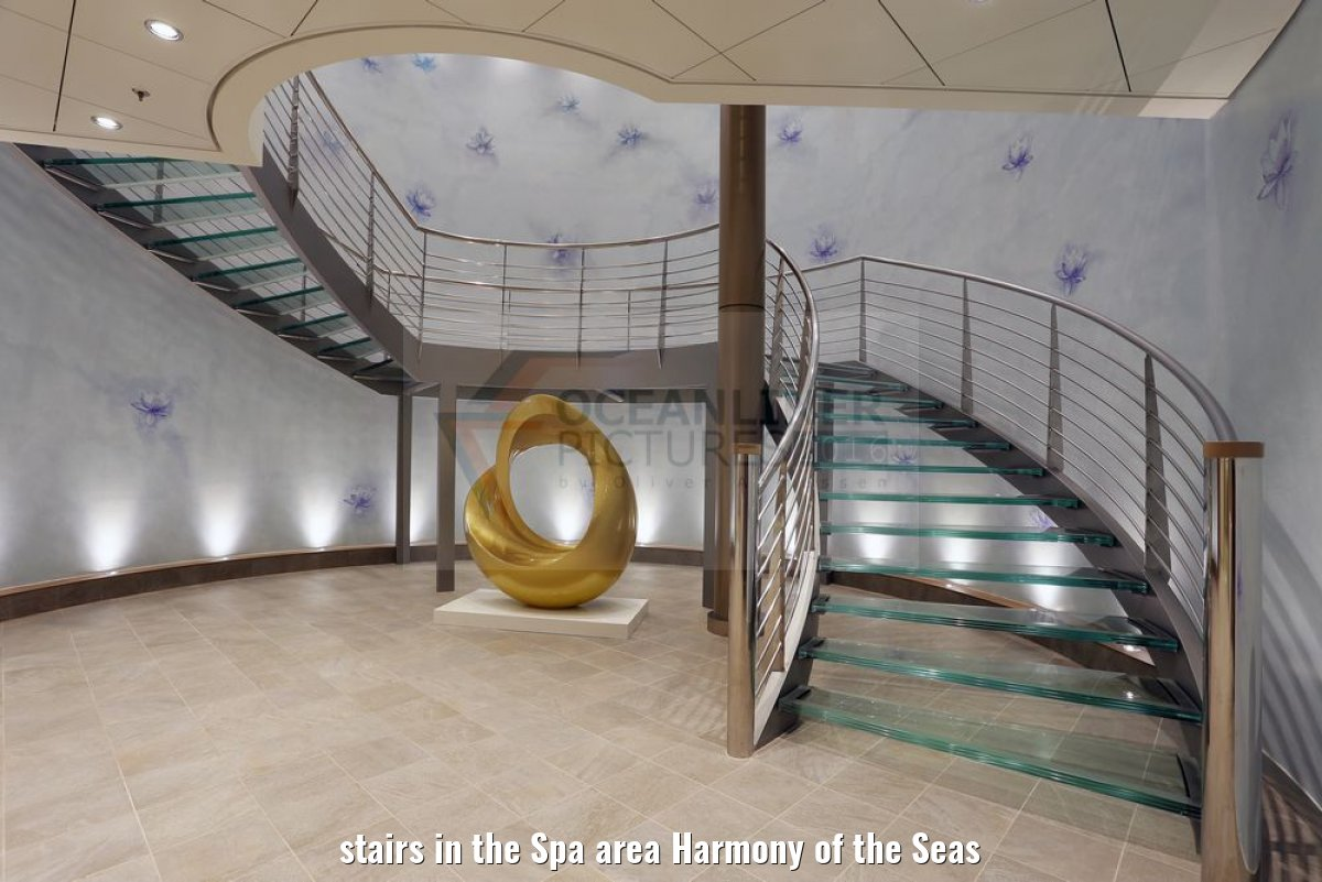 stairs in the Spa area Harmony of the Seas