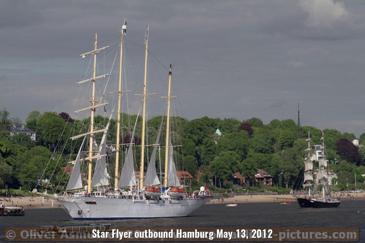 Star Flyer outbound Hamburg May 13, 2012