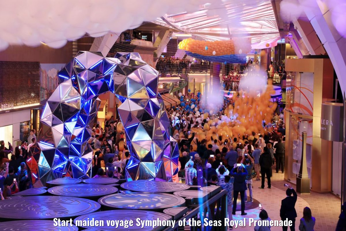 Start maiden voyage Symphony of the Seas Royal Promenade