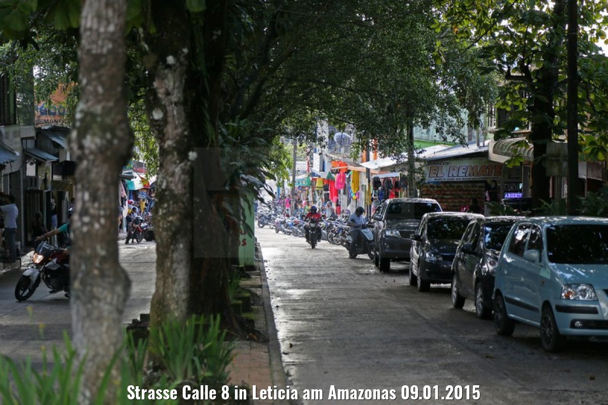 Strasse Calle 8 in Leticia am Amazonas 09.01.2015
