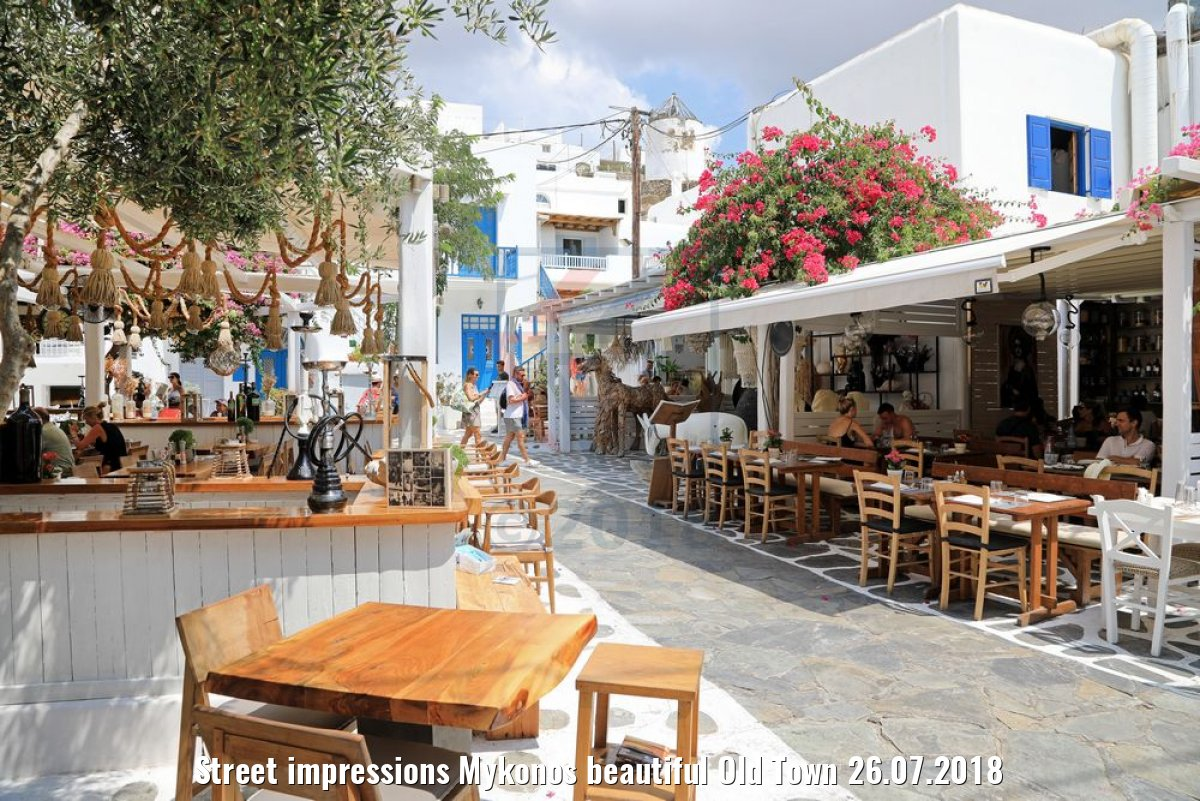 Street impressions Mykonos beautiful Old Town 26.07.2018