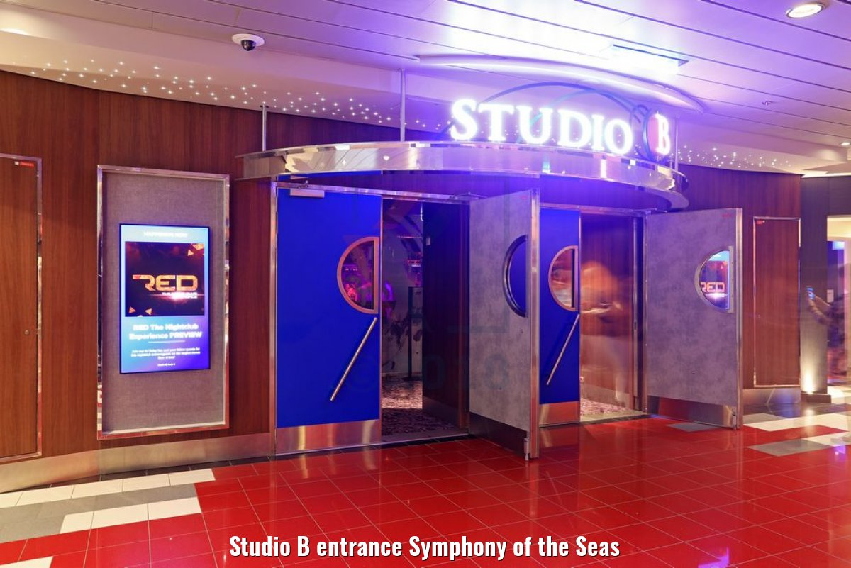 Studio B entrance Symphony of the Seas