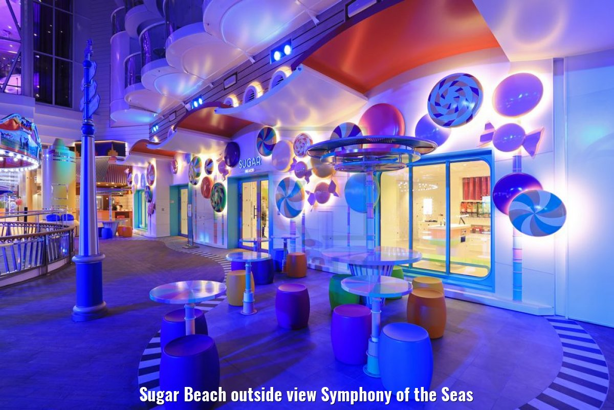 Sugar Beach outside view Symphony of the Seas
