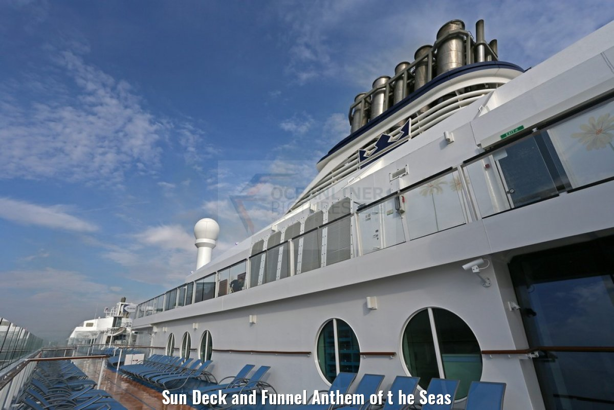 Sun Deck and Funnel Anthem of t he Seas