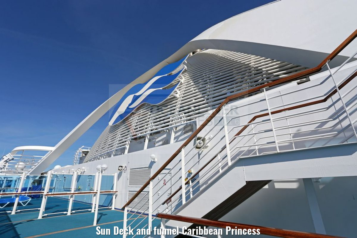 Sun Deck and funnel Caribbean Princess