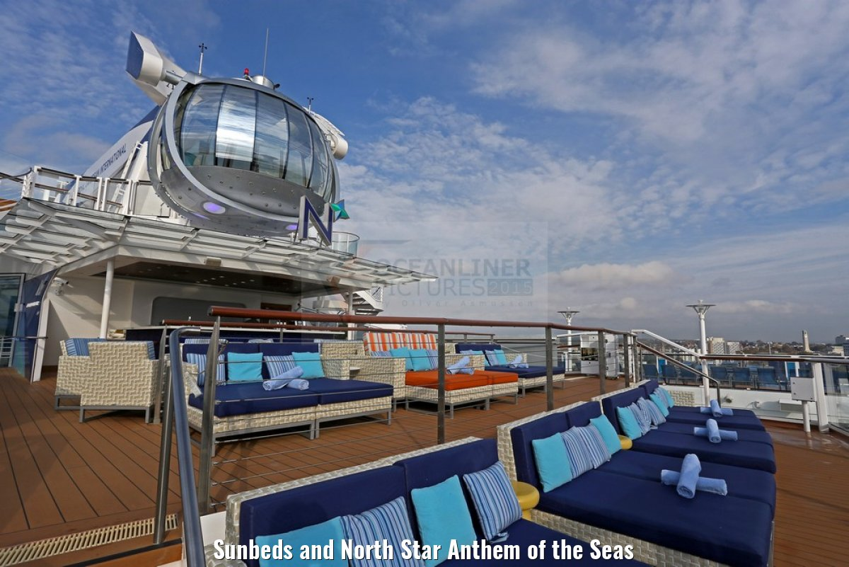 Sunbeds and North Star Anthem of the Seas