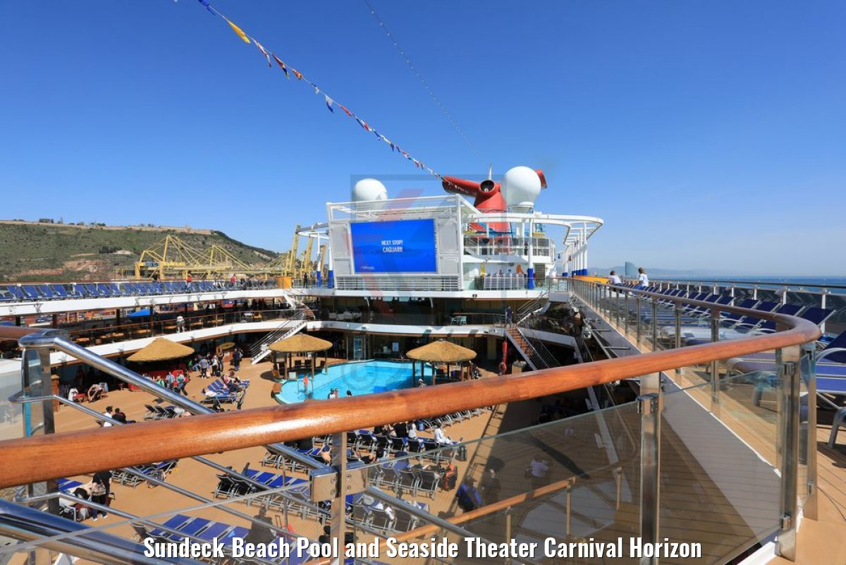 Sundeck Beach Pool and Seaside Theater Carnival Horizon