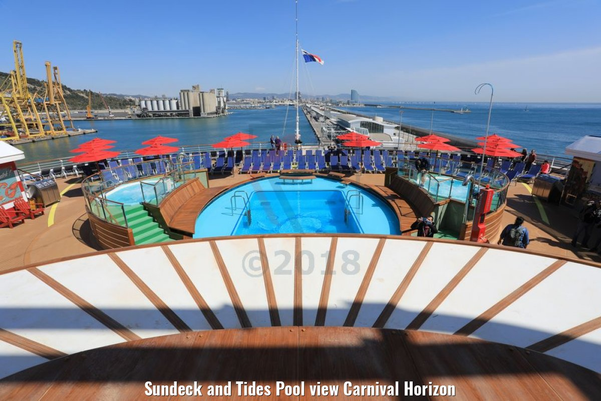Sundeck and Tides Pool view Carnival Horizon