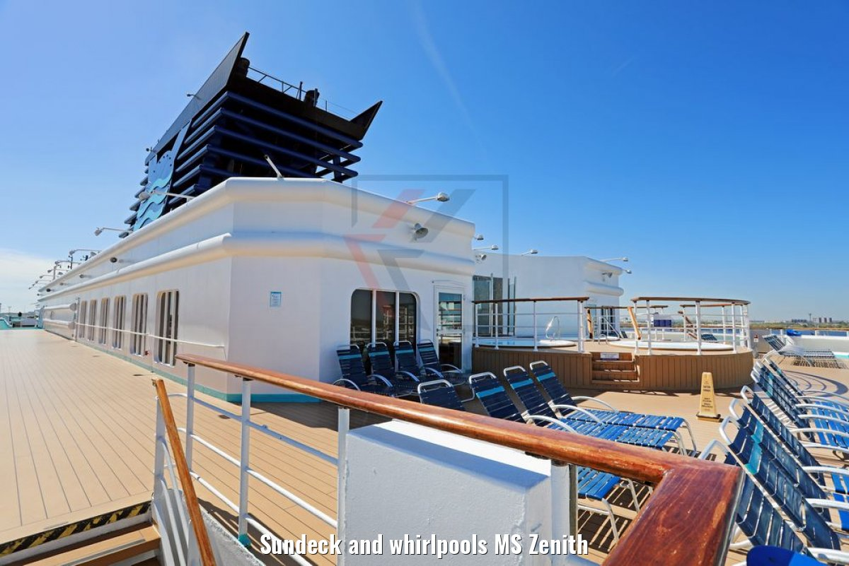 Sundeck and whirlpools MS Zenith