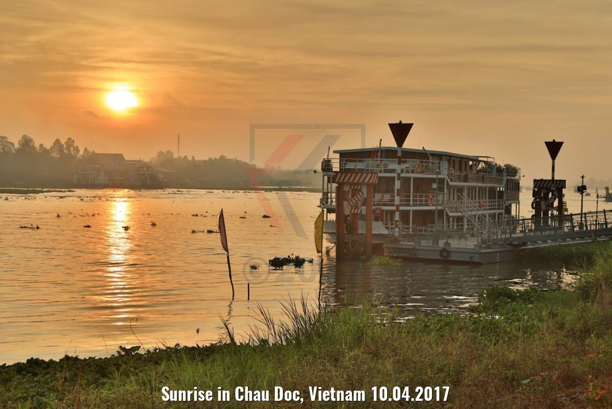 Sunrise in Chau Doc, Vietnam 10.04.2017