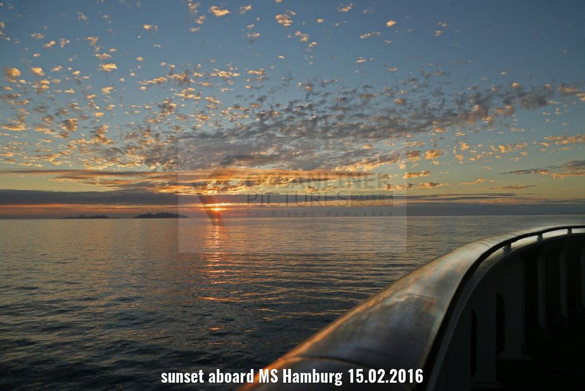 sunset aboard MS Hamburg 15.02.2016