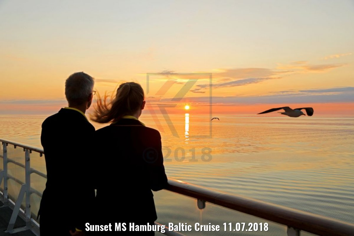 Sunset MS Hamburg Baltic Cruise 11.07.2018