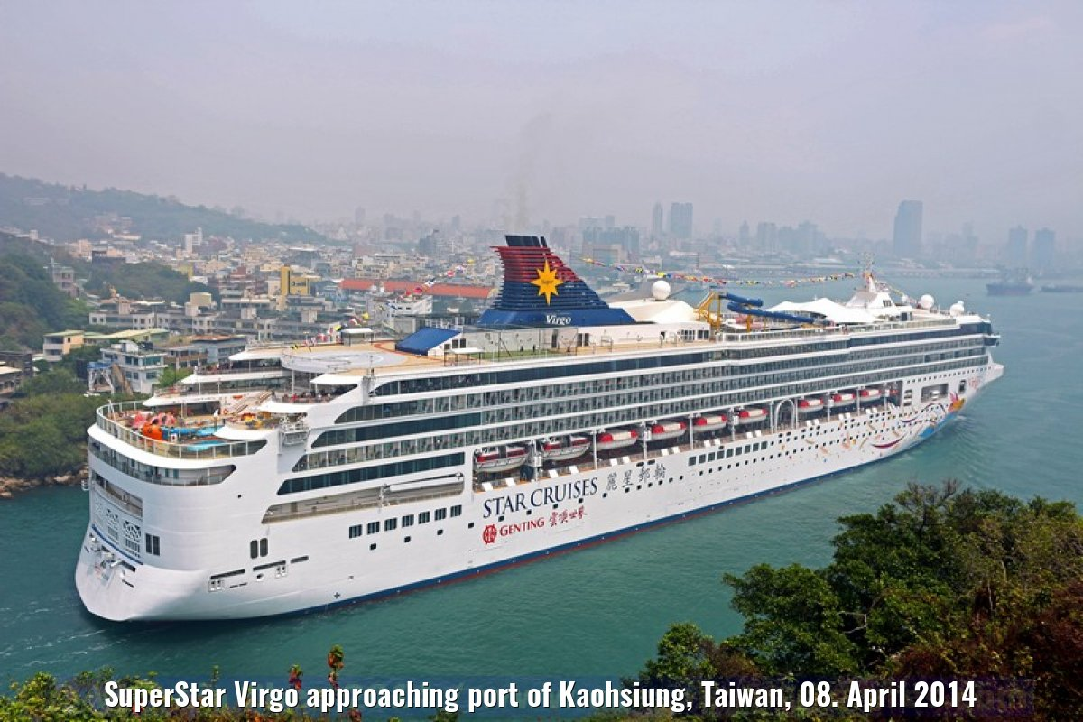 SuperStar Virgo approaching port of Kaohsiung, Taiwan, 08. April 2014