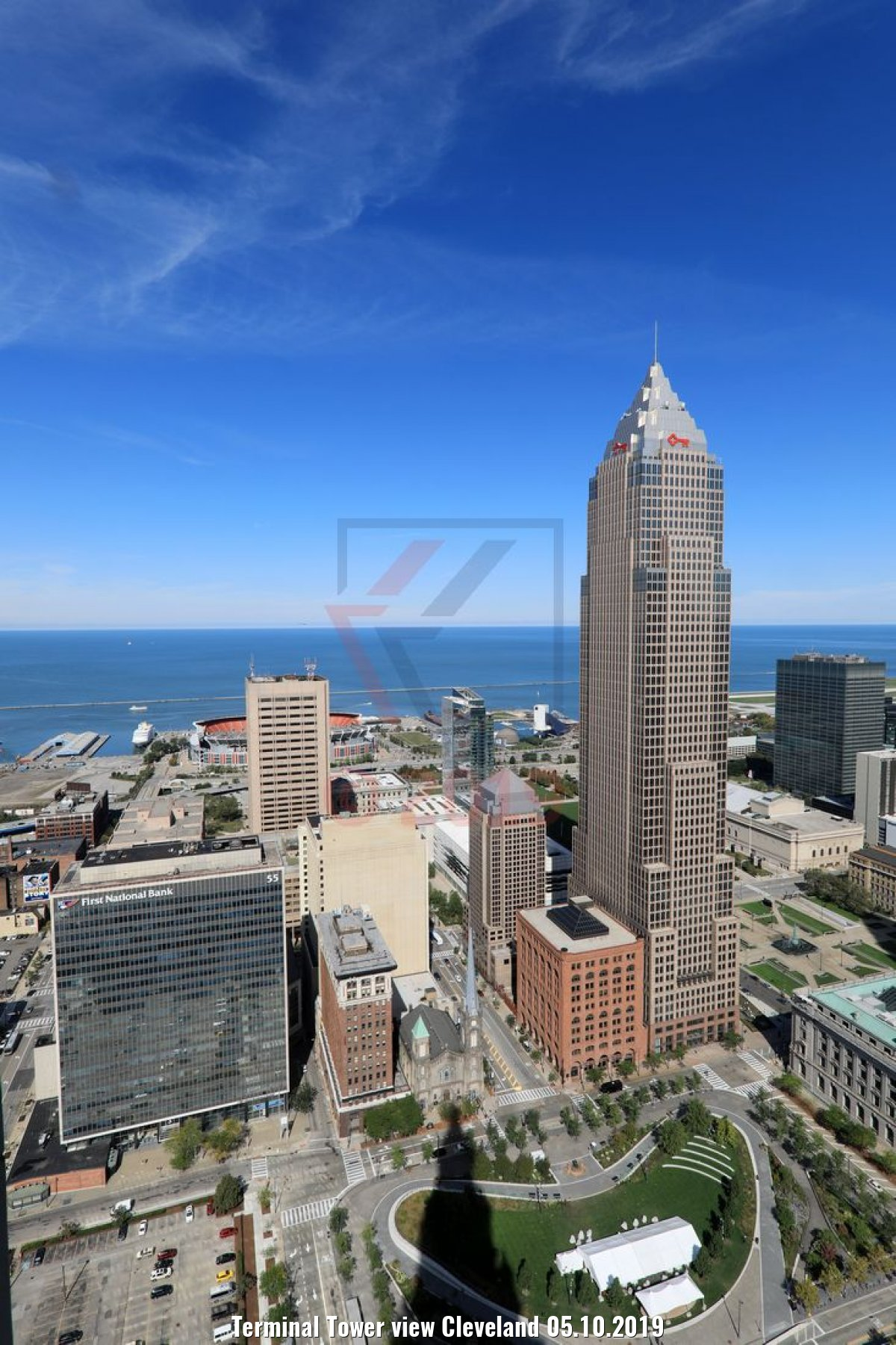 Terminal Tower view Cleveland 05.10.2019