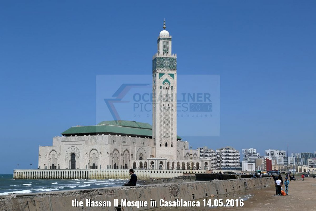the Hassan II Mosque in Casablanca 14.05.2016