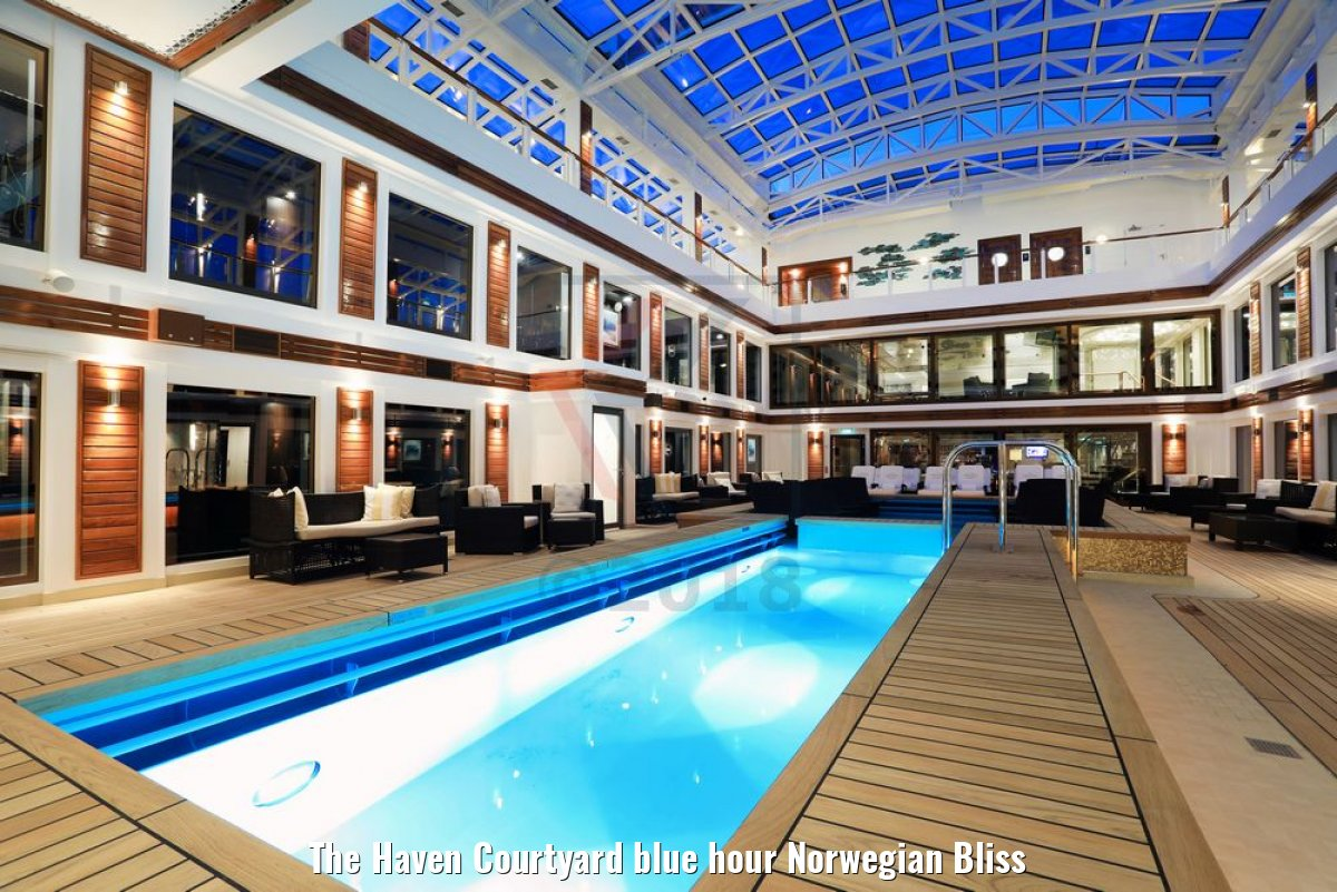 The Haven Courtyard blue hour Norwegian Bliss