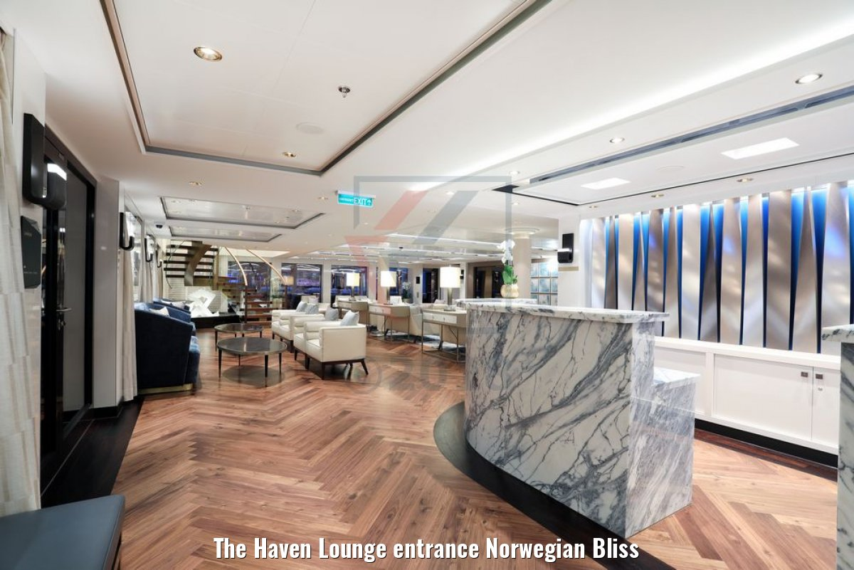 The Haven Lounge entrance Norwegian Bliss