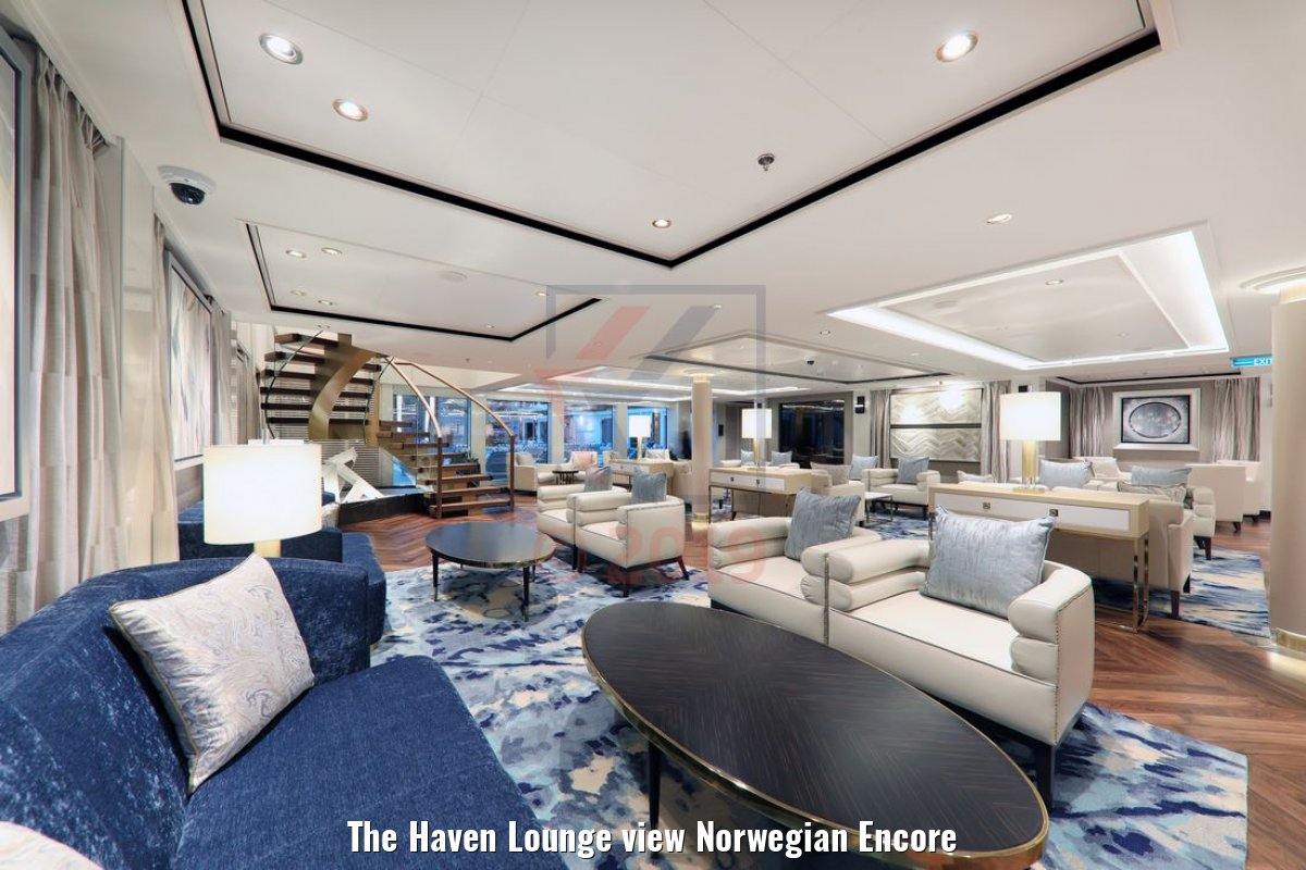 The Haven Lounge view Norwegian Encore