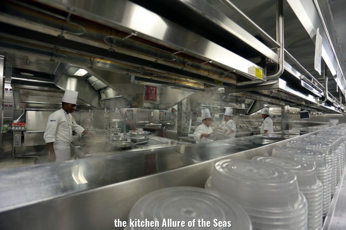 the kitchen Allure of the Seas