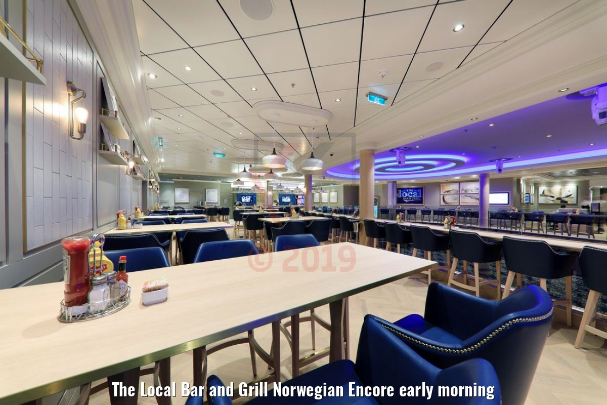 The Local Bar and Grill Norwegian Encore early morning