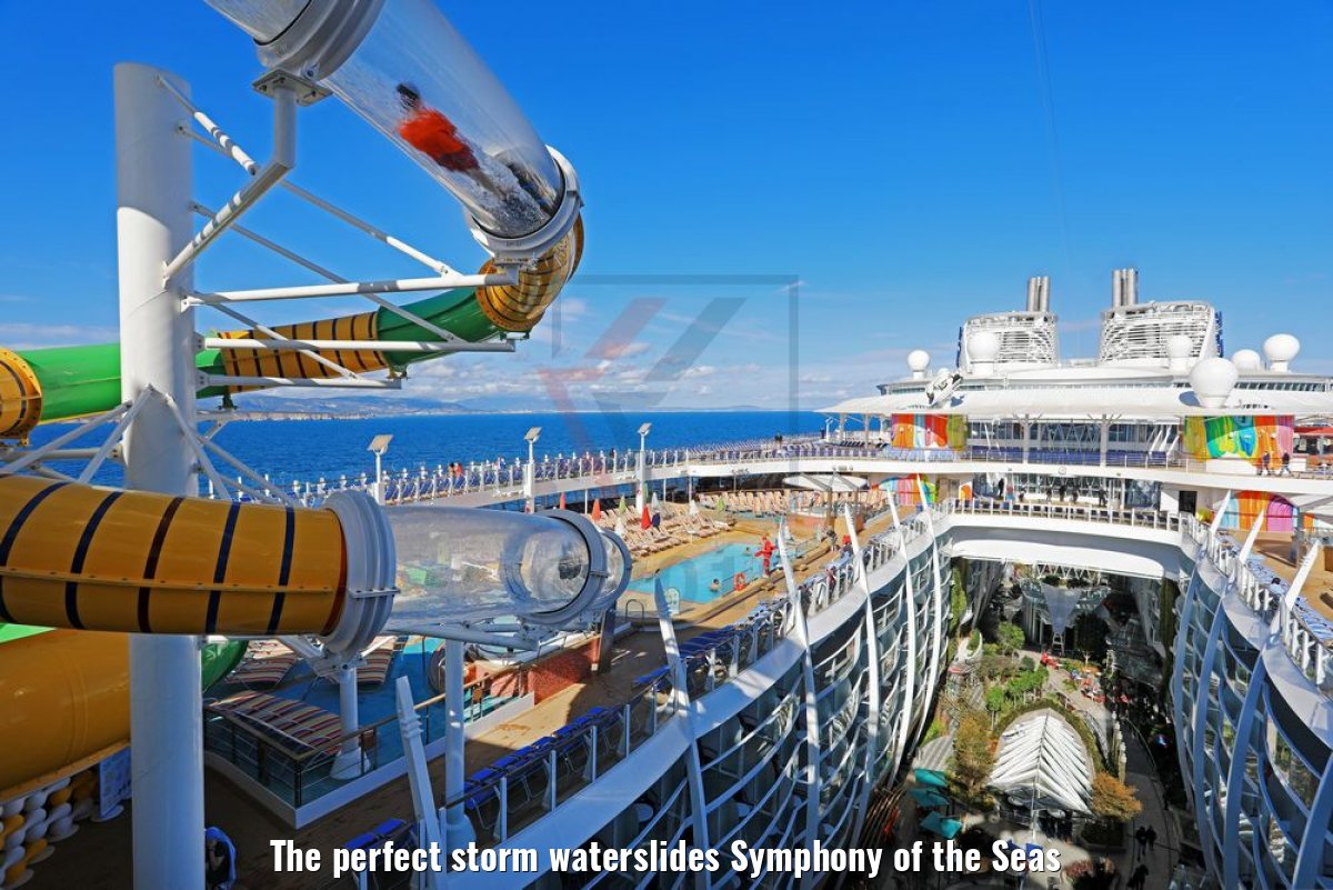 The perfect storm waterslides Symphony of the Seas