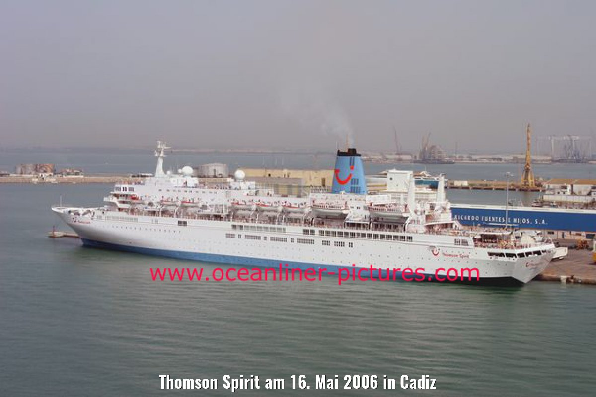 Thomson Spirit am 16. Mai 2006 in Cadiz