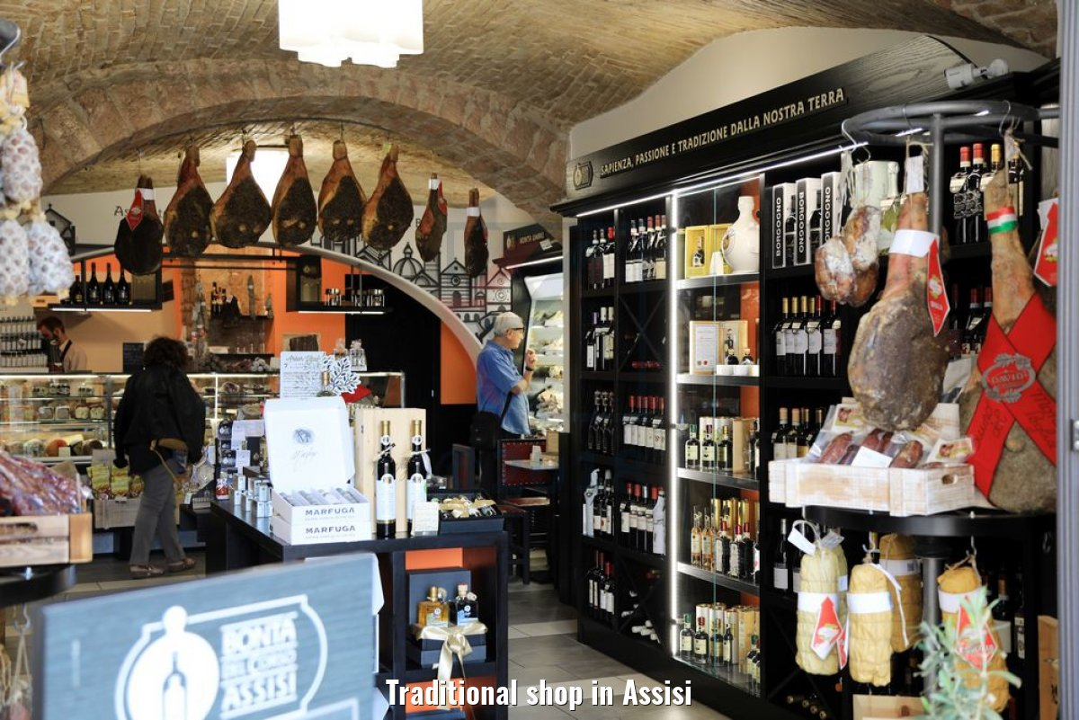 Traditional shop in Assisi