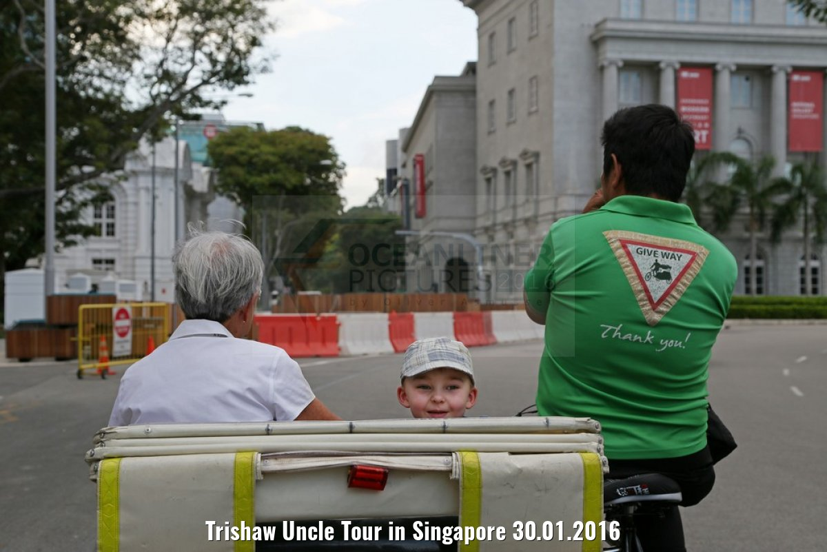 Trishaw Uncle Tour in Singapore 30.01.2016
