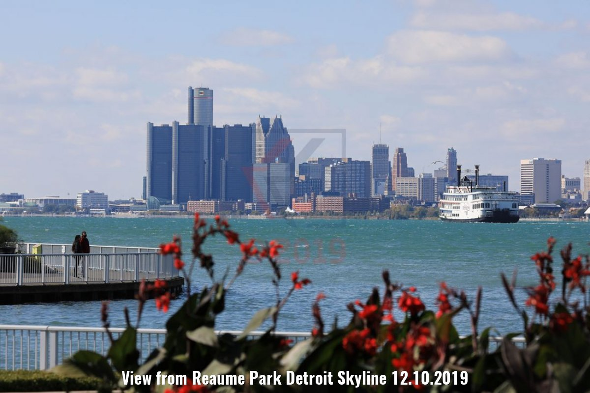 View from Reaume Park Detroit Skyline 12.10.2019