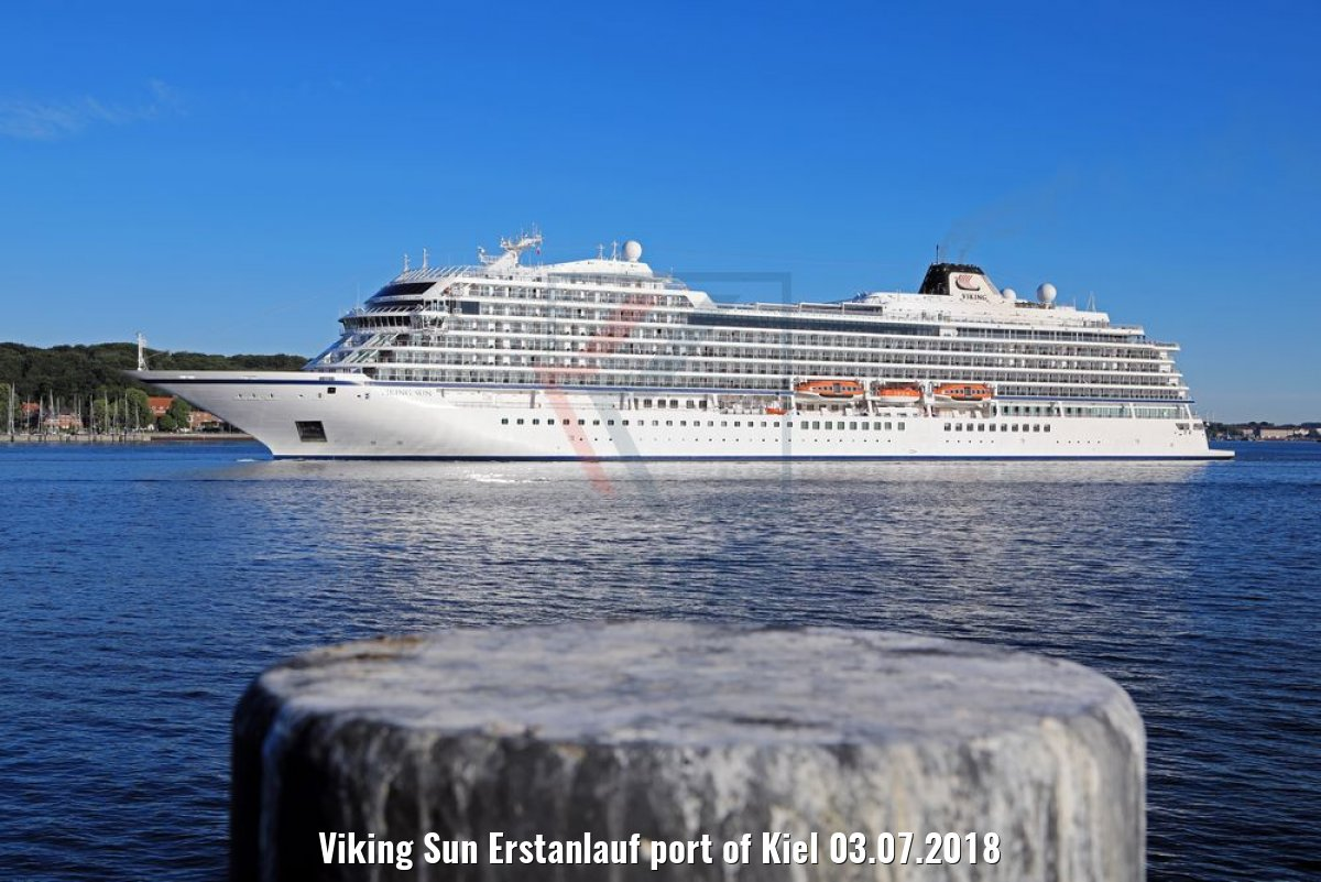 Viking Sun Erstanlauf port of Kiel 03.07.2018
