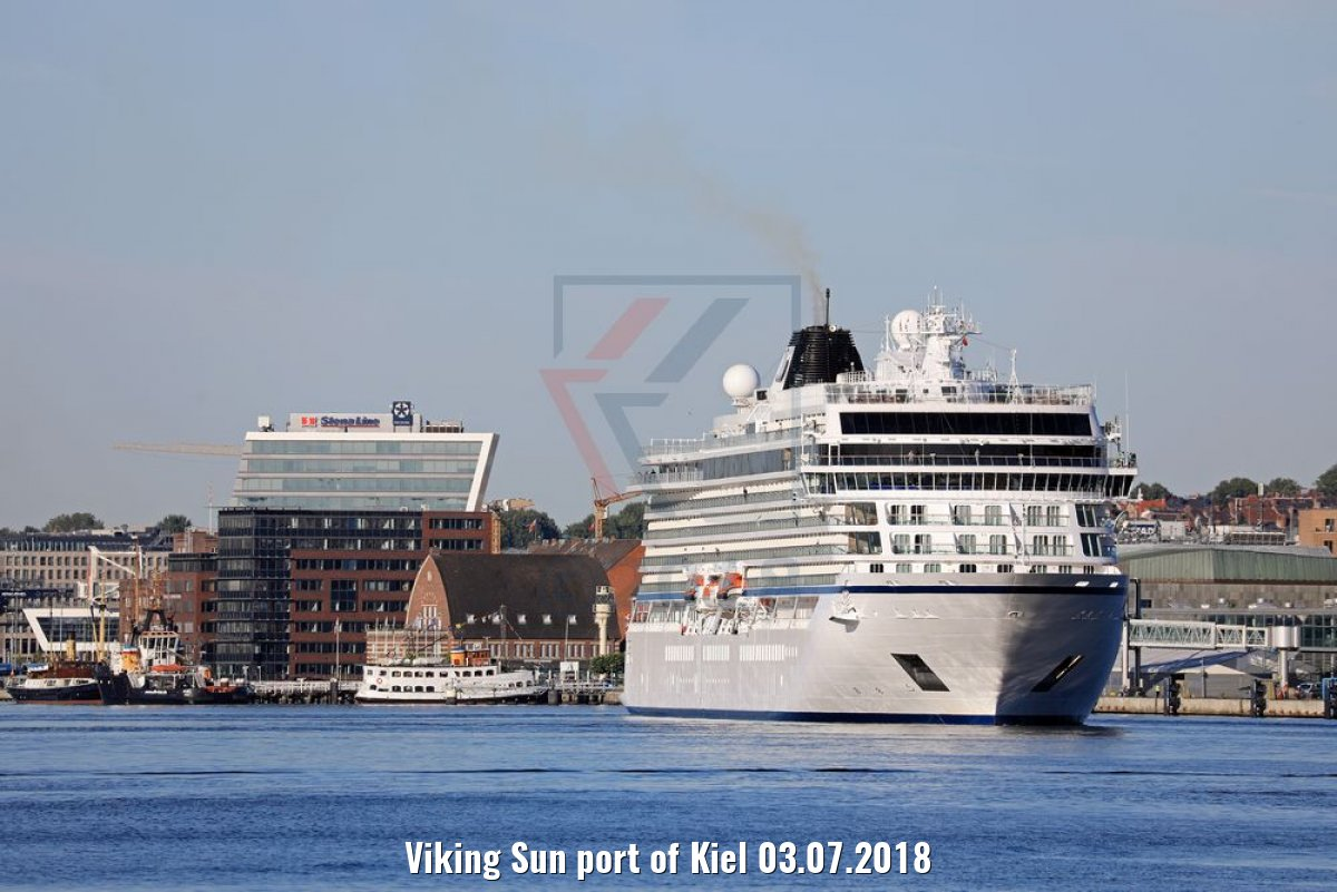 Viking Sun port of Kiel 03.07.2018