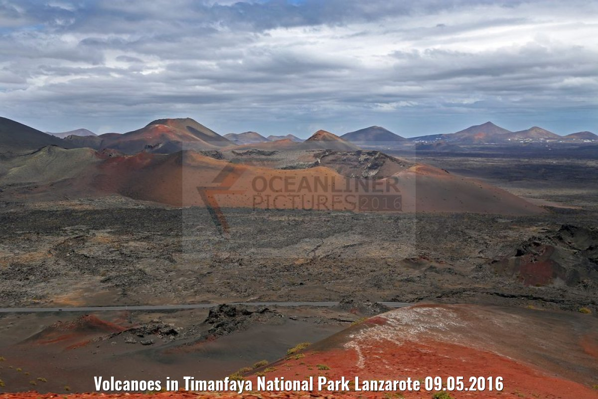 Volcanoes in Timanfaya National Park Lanzarote 09.05.2016