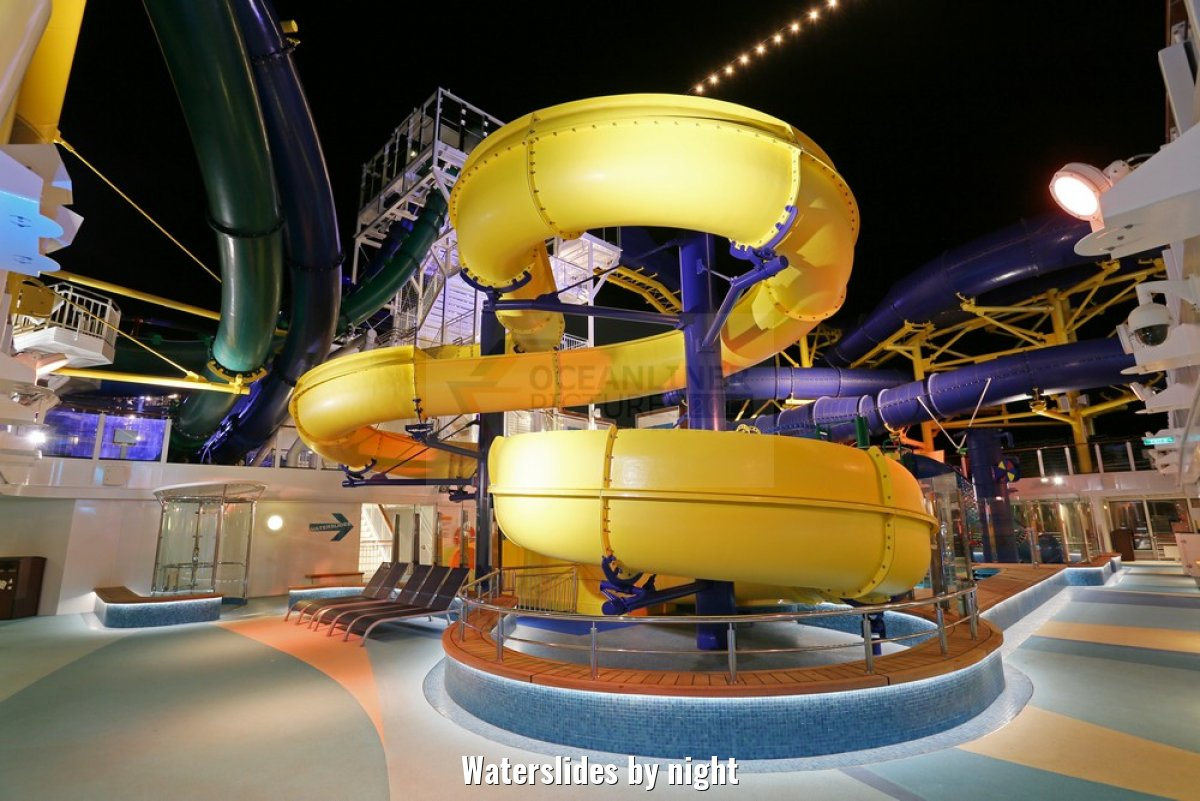 Waterslides by night