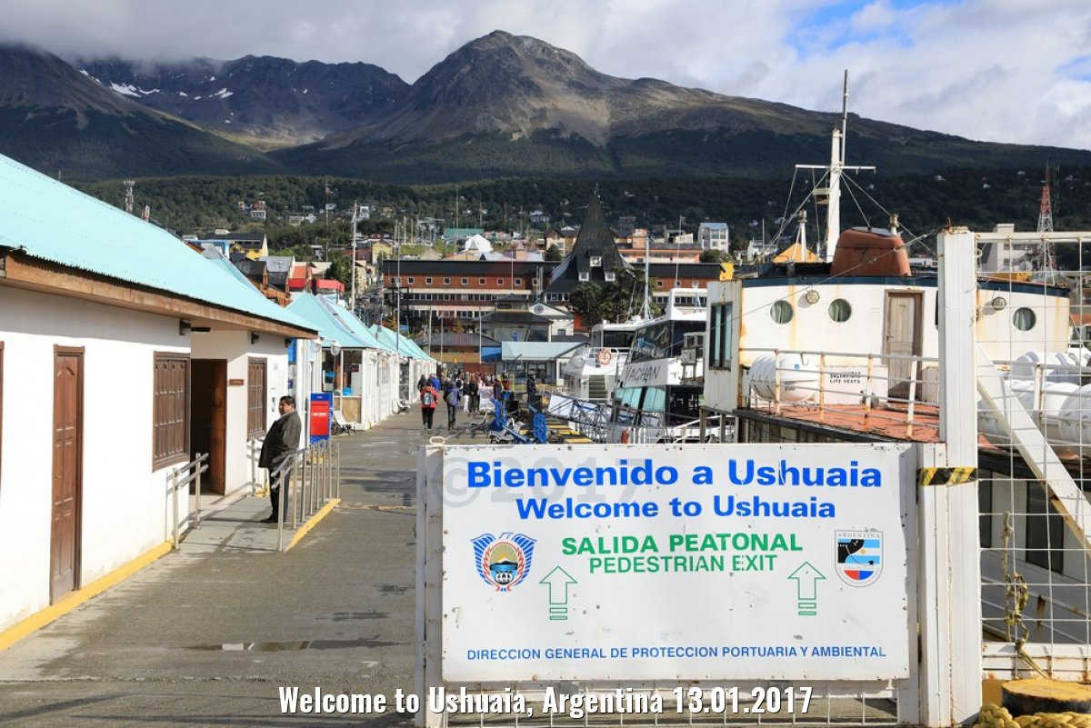 Welcome to Ushuaia, Argentina 13.01.2017