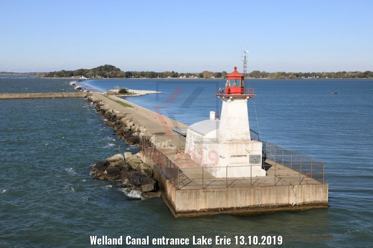 Welland Canal entrance Lake Erie 13.10.2019