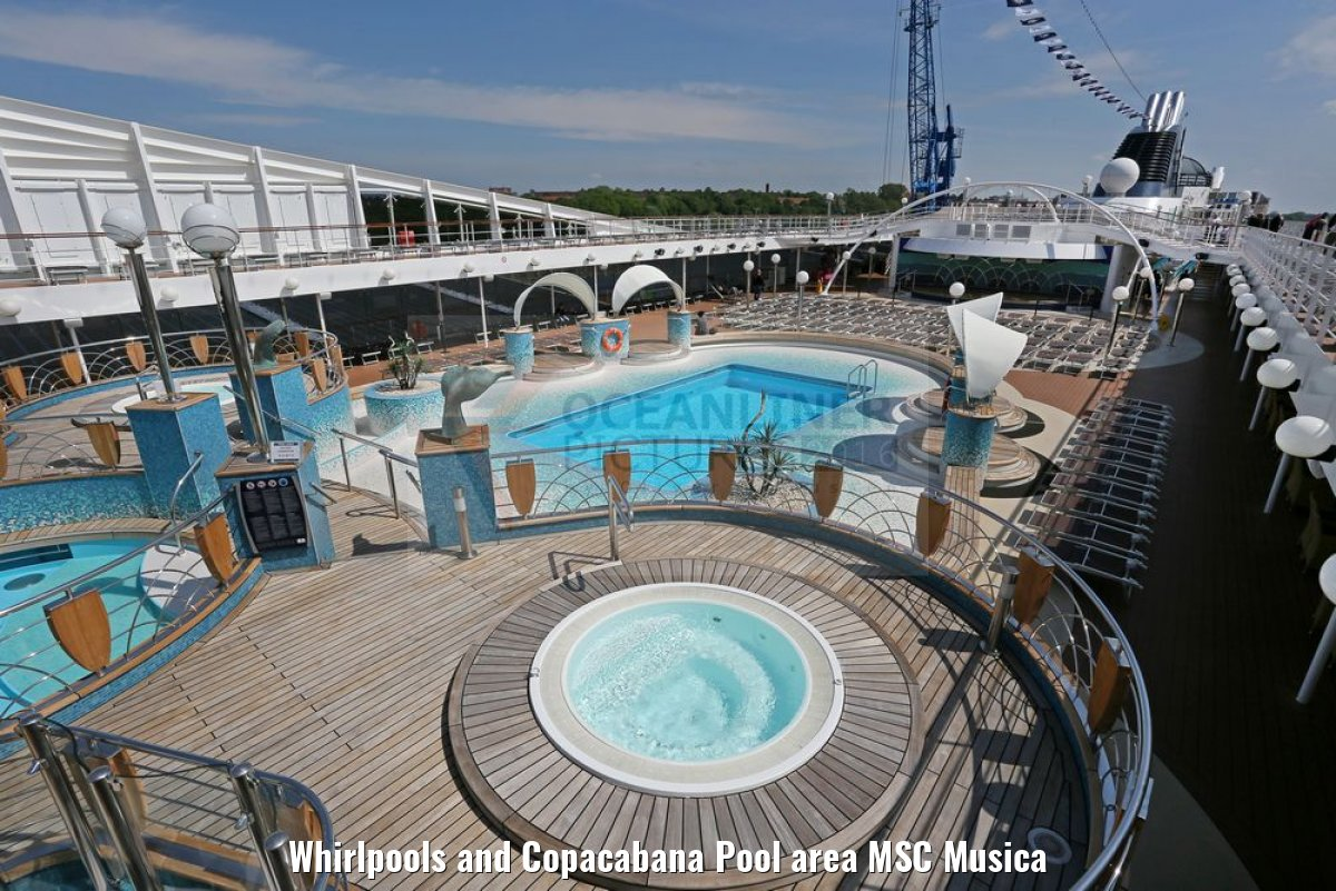 Whirlpools and Copacabana Pool area MSC Musica