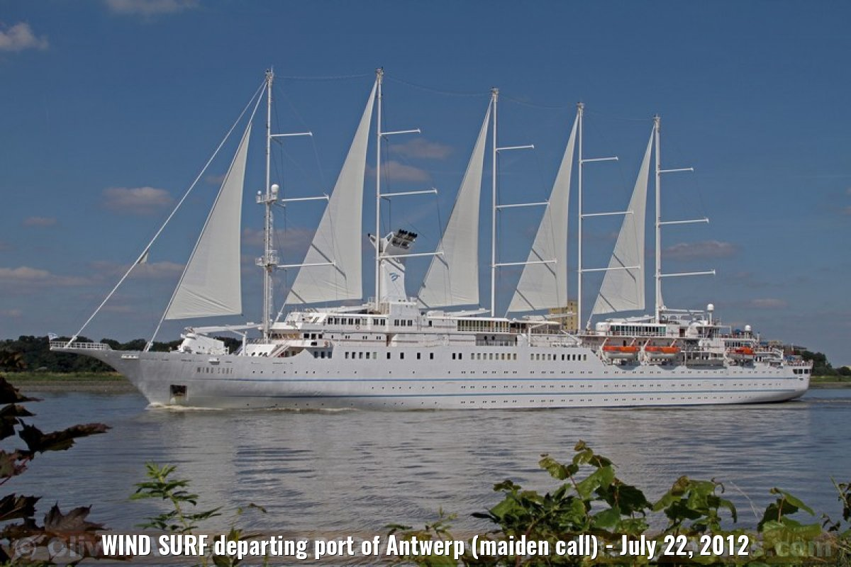 WIND SURF departing port of Antwerp (maiden call) - July 22, 2012