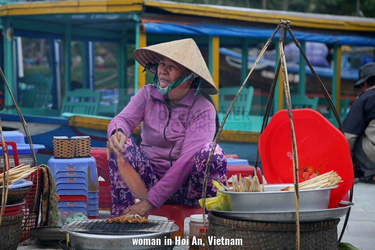 woman in Hoi An, Vietnam